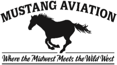 MUSTANG AVIATION BUTTON