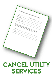 CANCEL UTILITY SERVICES